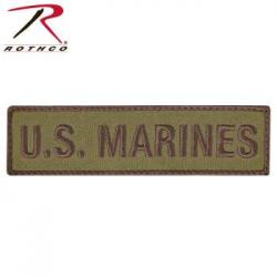 U.S. Marines Patch with Hook Back - Coyote Brown
