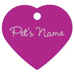 Heart DELUXE pet ID tag