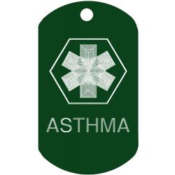 Medical Asthma ID Dog Tag