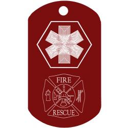Medical Fire Rescue Dog Tag