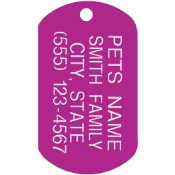 Custom dog tag PET ID