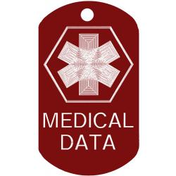 Medical Data ID Dog Tag