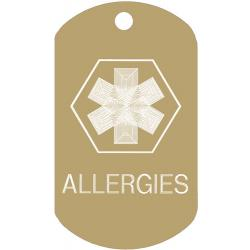 Medical Allergies ID Dog Tag