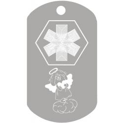 Medical Angel ID Dog Tag