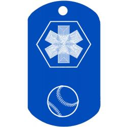 Medical Baseball Dog Tag