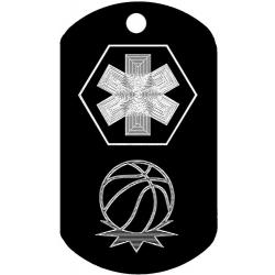 Medical Basketball Dog Tag