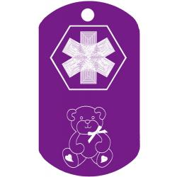 Medical Teddy Bear Dog Tag