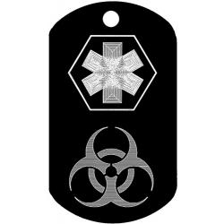 Medical Biohazard Dog Tag