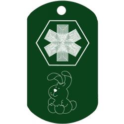 Medical Bunny Dog Tag
