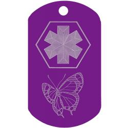 butterfly medical id tag