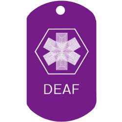 Medical Deaf ID Dog Tag